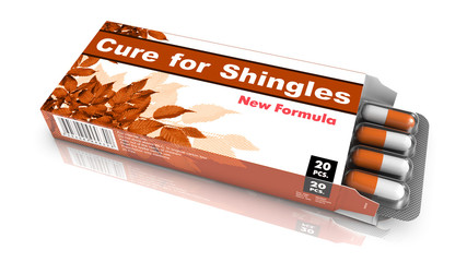 Cure For Shingles, Gray Open Blister Pack.