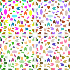 Seamless patterns from geometric shapes
