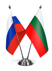 Russia and Bulgaria  - Miniature Flags.
