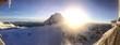 canvas print picture - Winter: Sonne überm Gipfel