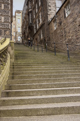 Flight of steps at Warriston's Close, Ediburgh
