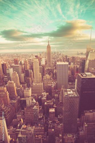 Manhattan with vintage tone