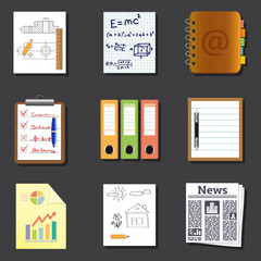 Paper and documents icons