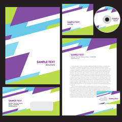 abstract creative corporate identity line colorful template