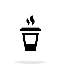 Ending coffee cup icon on white background.