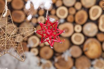 Christmas composition for postcard