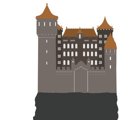 castle, vector illustration