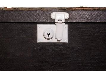 Lock on old suitcase