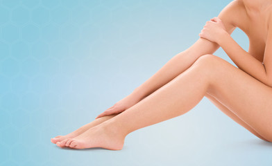 healthy beautiful bare woman legs