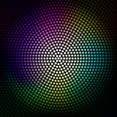 Colorful disco lights background