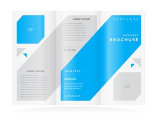 brochure design template vector tri-fold flat