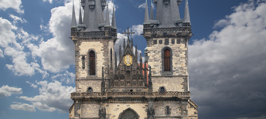 The gothic Church of Mother of God in front of Tyn