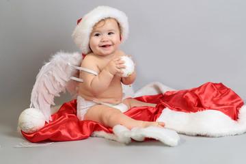 Happy New Year angel baby boy