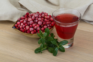 Cowberry juice