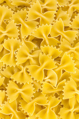 raw pasta background close up