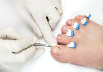 process of pedicure a t beauty salon