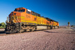 BNSF Freight Train Locomotives No. 5240 in the desert - 74612345