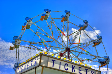 Purchase a ticket before riding the Ferris wheel