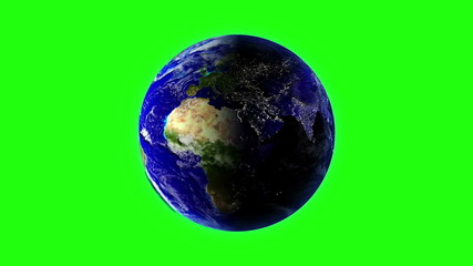 Planet Earth in universe or space rotation 360 degrees. LOOPED
