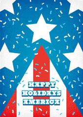 USA Holiday Tree Flag