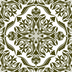 silhouette of vintage pattern seamless