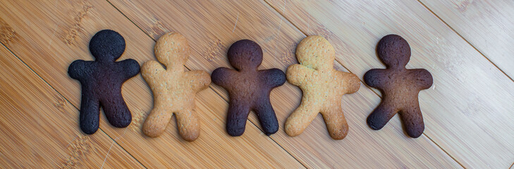 Sad burnt and ready colorful gingerbread cookies