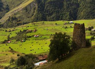 Hada village. Caucasus, Georgia.