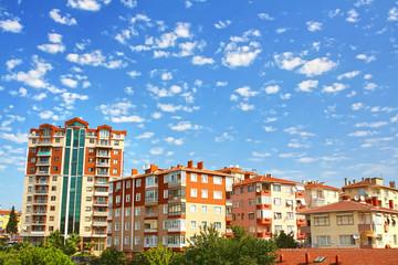 Multistoried living block of flats