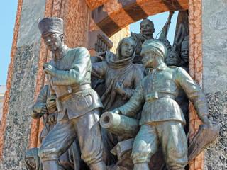 Republic Monument on Taksim Square Turkish Republic