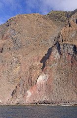 Steep Cliffs on a Volcanic Island