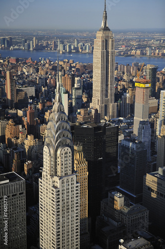 Fototapeta Aerial view of New York skyline