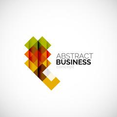 Square concept, company logo design element