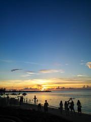 沖縄の美しいサンセット