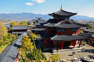 Mu's Mansion in Lijiang old town,China