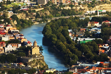 Tbilisi city view from above, Georgia