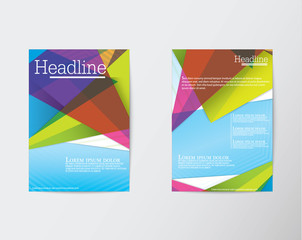 Abstract Triangle Brochure Flyer design in A4 size