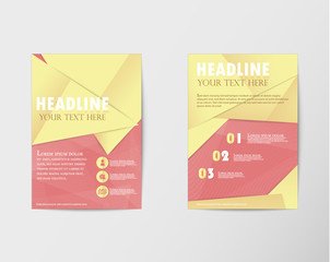 Brochure design Layout template in A4 with gold paper