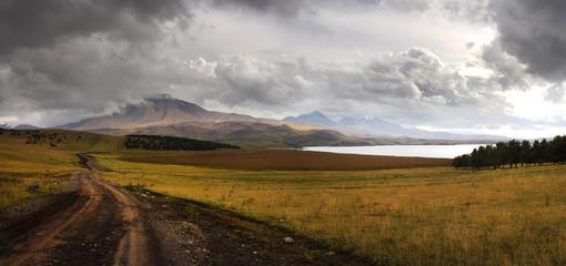 Very high resolution panoramic view mountains of Georgia