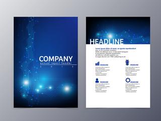 abstract blue flyer design template vector a4