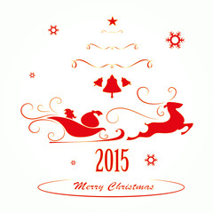 Merry Christmas background , vector illustration