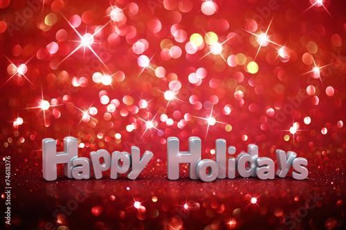 obraz lub plakat Boże Narodzenie brokat tła - Happy Holidays