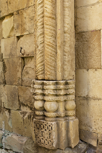 architectural details of ancient cathedral © ellemarien7