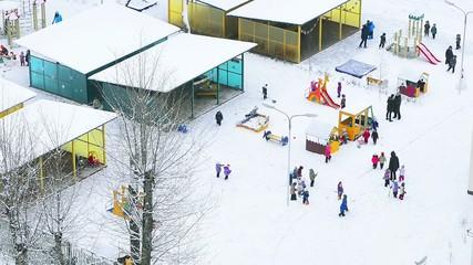 kindergarten at winter