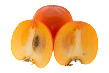 Two half of the persimmon