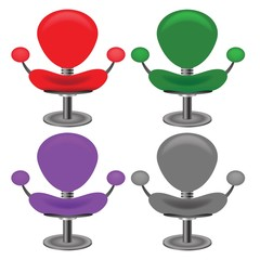 set of modern chairs