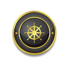 Wheel Gold Vector Icon Button