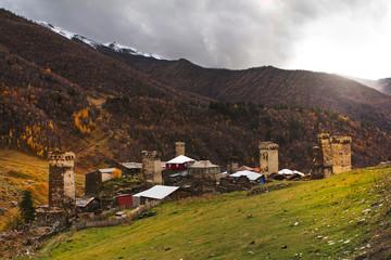 Ushguli village. Caucasus, Upper Svaneti. Georgia.