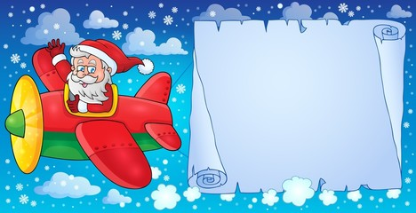 Santa Claus in plane theme image 8