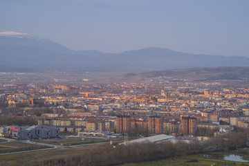 Panorama of the downtown of Vitoria, Spain