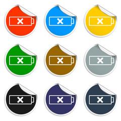 Battery  icon, vector illustration. Flat design style